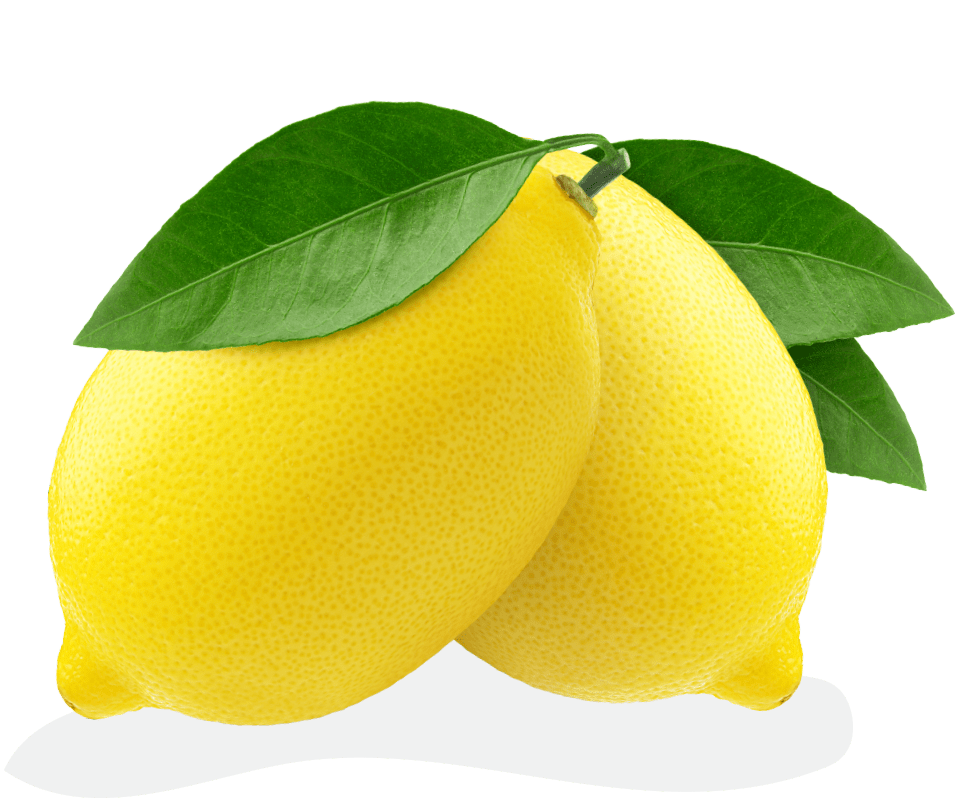 A bunch containing two lemons